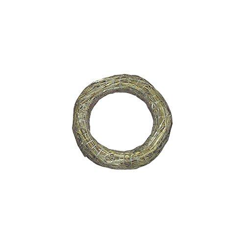 Rayher 8907231 Strohkranz, natur, nicht verschweißt, 30 cm ø