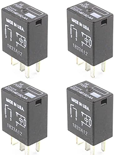4 Pack 8T2T-14B192-AA Multi-Function Relay 4-PIN 8T2T14B192AA OEM Relays Compatible for F150 F-250