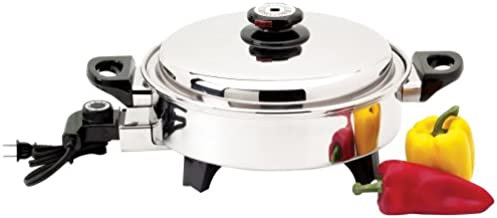 liquid core stainless steel electric skillet