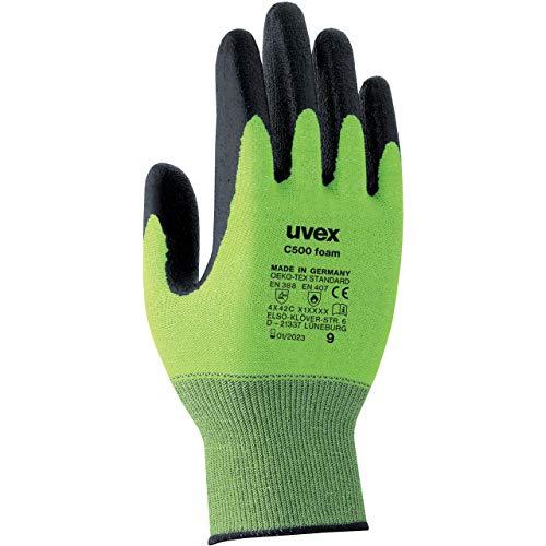 Uvex C500 Foam Schnittschutzhandschuhe - 1 Paar Schnittfeste Arbeitshandschuhe 09/L
