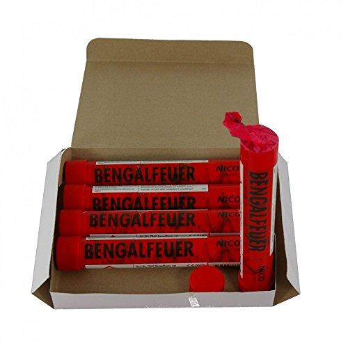 5 Bengalfackeln mit jeweils 40 Sekunden Brenndauer in verschiedenen Farben (Rot)