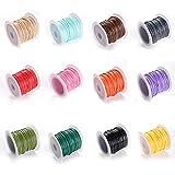 Dilightnews 10 Rollos Multicolor Cordón Encerado Hilo, 1mm * 10m, Cordón...