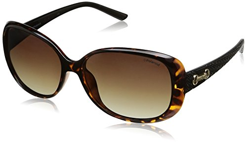 Polaroid P8430 LA 581 Gafas de sol, Negro (Havana Black/Brown Shaded Polarized), 58 para Mujer
