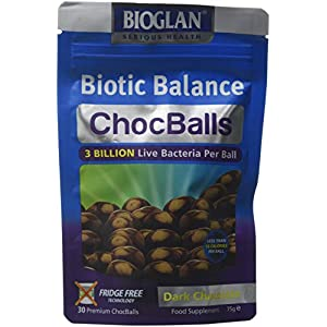 bioglan biotic balance dark choc balls, 3 billion cfu probiotic, live cultures wrapped in delicious dark chocolate, contains lactobacillus rosell, bifodobacterium rosell, & inulin. – 30 balls Bioglan Biotic Balance Dark Choc Balls, 3 Billion CFU Probiotic, live cultures wrapped in delicious dark chocolate… 41wDdvQrQAL