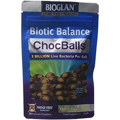 bioglan biotic balance dark choc balls, 3 billion cfu probiotic, live cultures wrapped in delicious dark chocolate, contains lactobacillus rosell, bifodobacterium rosell, & inulin. – 30 balls Bioglan Biotic Balance Dark Choc Balls, 3 Billion CFU Probiotic, live cultures wrapped in delicious dark chocolate… 41wDdvQrQAL