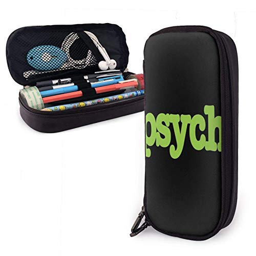 XCNGG Prism Heart Pu Leather Pencil Case with Zipper Closure Big Capacity Carrying Case for School Office