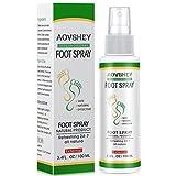 AOVSHEY Fußpilz Spray Fußspray Athlete Foot Spray Die effizient Juckreiz und Entzündungen an den Füßen steuern, kuriert und verhindert, Bei Fußpilz, Fußschweiß und Fußgeruch, 100ml