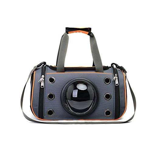 Draagbare Travel Pet Carrier, Space Capsule Bubble Design, Waterdichte Handtas Rugzak voor katten, kleine honden en puppies Konijnen Ferret Multi kleuren om te kiezen 44*26*26cm ORANJE