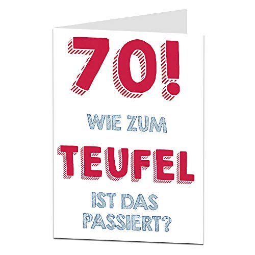 LimaLima 70. Geburtstagskarte für Männer & Frauen Mama Papa Oma Opa Unhöfliche Offensive Lustige Geburtstagskarte
