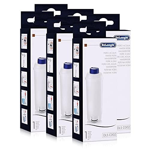 DeLonghi filtr do wody do ekspresów do kawy ECAM, ESAM, ETAM, BCO, EC, 6 sztuk