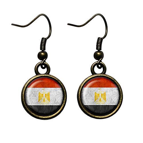 Egypt Egyptian Flag Ägypten Ägyptische Flagge Antike Bronze Ohrringe