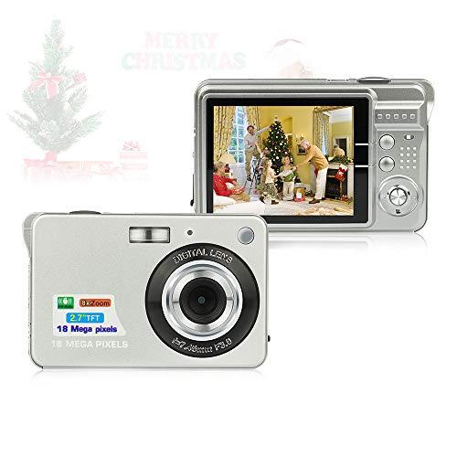 Digitalkamera, Foto Kamera Digital 2,7 Zoll 18 MP HD Digitalkameras mit 8X Digitalzoom Digital Kameras Geschenk Fotokamera Digital Kompaktkameras für Kinder, Erwachsene