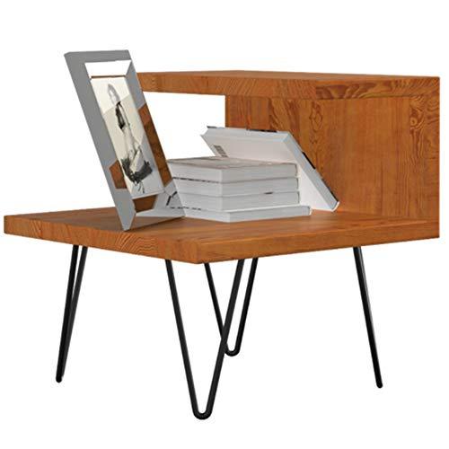 ASDFGG-hm Schubladen Nachttisch Einfache Nordic Baku Serie Nachttisch Weißeiche Europäischen Massivholz Schrank Moderne Massivholz Nachttisch (Farbe : Rosewood Color)