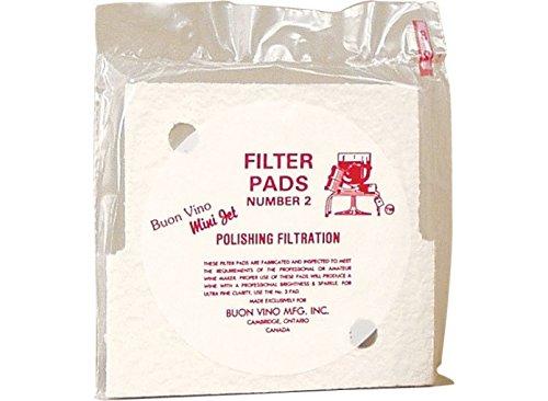 Buon Vino Mini Jet Filter Pads (3) - Fine (Polish) (Pack of 10)