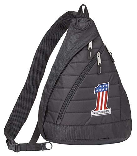 Harley-Davidson #1 RWB Logo Quilted Travel Large Sling Backpack 90820-NUMBER1