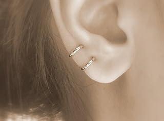 hoops - small hoop earrings for cartilage earings for women tiny endless gold hypoallergenic hoop earrings