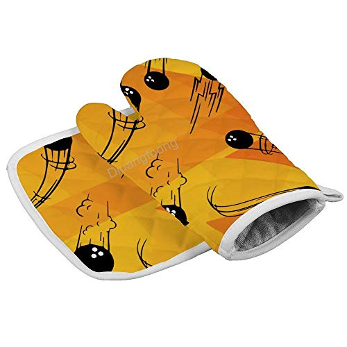 Diuangfoong Kegelkugel hitzebeständige Ofenhandschuhe für heiße Pfannen, Küchenzubehör für Mikrowelle, Backen, Grillen, Männer und Frauen, 2-teiliges Set