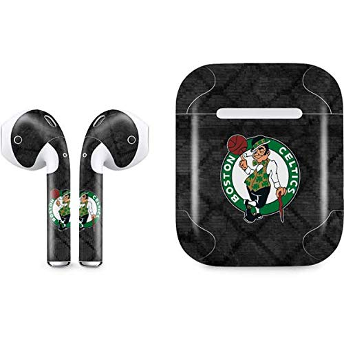 Skinit Decal Audio Skin Compatible with Apple AirPods with Lightning Charging Case - Officially Licensed NBA Boston Celtics Dark Rust Design