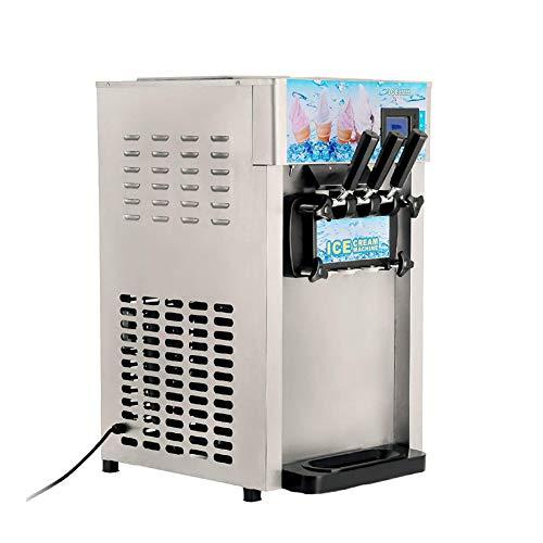 Honoen Macchina per Gelato Commerciale con Schermo LED, 1200W 2x1,8L / 0,475 Gallon all'ora, Gelato Morbido e Morbido, 3 Gusti Perfetti per Bar, caffè, Negozi di Latte e tè