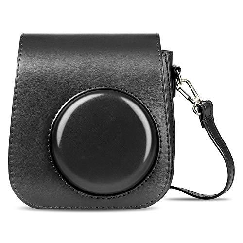 HNYG-Sofortbildkameras Tasche Kompatibel mit Instax Mini 11 ,PU Leder Schutzhülle für Instax Mini 11 Tasche, Kamera Umhängetasche (schwarz)