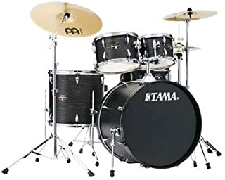 Tama Imperialstar Complete Drum Set - 5-Piece - 22 Inches Kick - Black Oak Wrap
