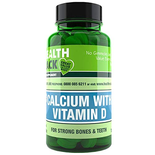 Calcium with Vitamin D Capsules   High Strength Supplements for Bones & Teeth   500mg of Calcium and 50iu of Vitamin D3   60 Capsules