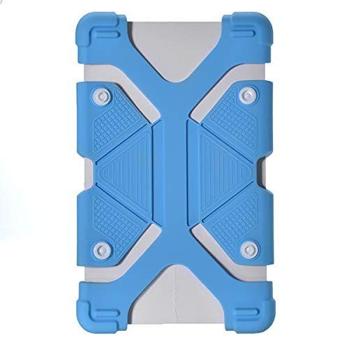 Funda universal de silicona retráctil para tablet de 7 a 8 pulgadas, color azul, color azul