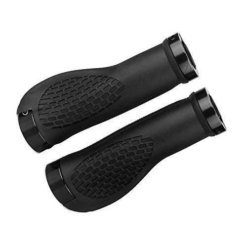 KOMUS Manopole per manubrio bicicletta per BMX/MTB, impugnatura appositamente sagomata per una presa perfetta, impugnature impermeabili antiscivolo per bicicletta, diametro 22 mm, manubrio bicicletta