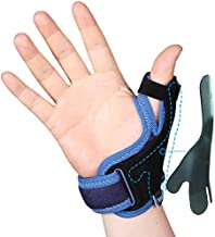 VELPEAU Thumb Support Brace - CMC Joint Thumb Spica Splint for Pain Relief, Arthritis, Tendonitis, Sprains, Strains, Carpal Tunnel & Trigger Thumb Immobilizer - Wrist Strap - Left or Right Hands (S/M)