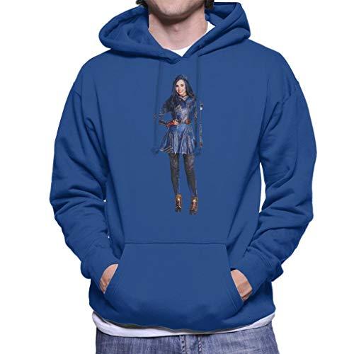 Disney Afstammelingen Evie Classic Blauw Kostuum Heren Hooded Sweatshirt
