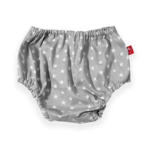 La Fraise rosso 4251005600498 pannolino pantaloncini Antoine, Dimensioni 54-68, hellrau con stelle bianche