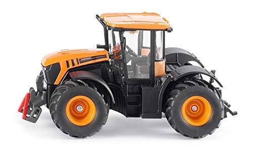 SIKU 3288, JCB Fastrac 4000 Traktor, 1:32, Metall/Kunststoff, Orange, Achsschenkellenkung und SIKU-Kupplungen
