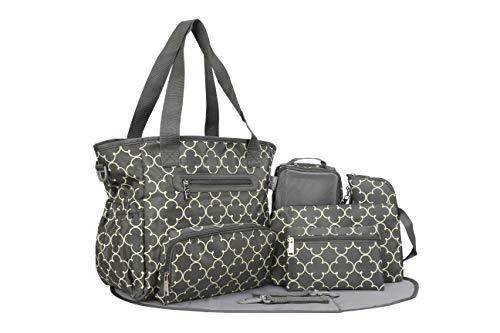 SoHo Grand Central Station Diaper Bag 7Pc, Quad