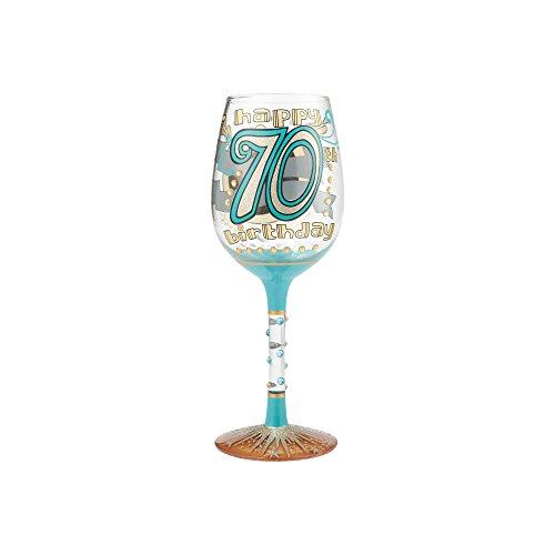 Enesco Lolita Figurita Copa De Vino 70° Aniversario, 18x18x22.5 cm