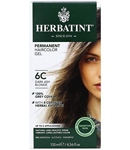 Herbatint Coloration soin en gel permanante à base de plantes, Teinture blond foncé cendré