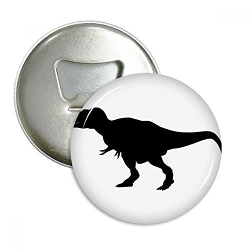 Dinosaur Bones Curly Silhouette Round Bottle Opener Refrigerator Magnet Pins Badge Button Gift 3pcs