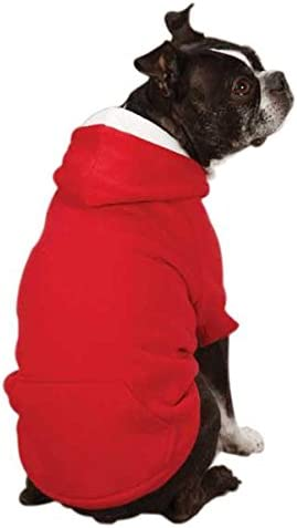 """Zack & Zoey Fleece-Lined Hoodie for Dogs, 12"""" Small, Tomato Red"""