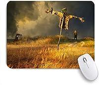VAMIX マウスパッド 個性的 おしゃれ 柔軟 かわいい ゴム製裏面 ゲーミングマウスパッド PC ノートパソコン オフィス用 デスクマット 滑り止め 耐久性が良い おもしろいパターン (古い説明かかし空やかん鳥クリア手袋雲)