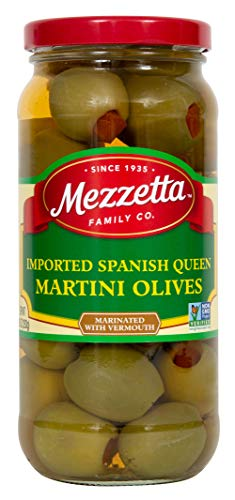 Mezzetta Spanish Queen Olives, Imported Martini, 10 Ounce