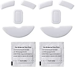 2 Sets White Rounded Curved Edges Mouse Feet Pads Skates Compatible for Razer Mamba Wireless Gaming Mouse