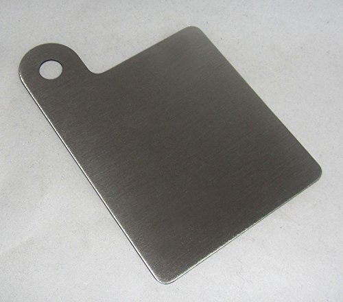 304 Stainless Steel Motorcycle Inspection Sticker Plate 3' x 3.25' Part No. RP0003 MADE IN THE USA