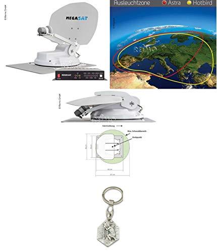 Zisa-Kombi SAT-Anlage Megasat Caravanman Kompakt (93298849820) mit Anhänger Hlg. Christophorus