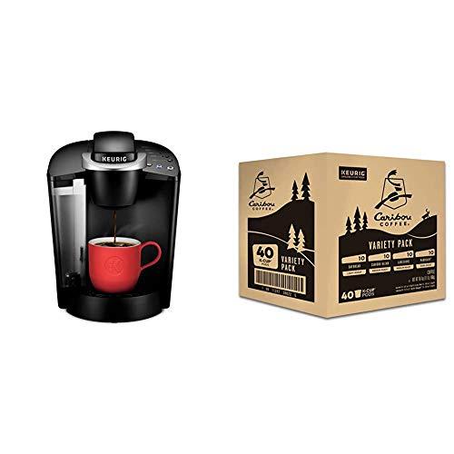Keurig K-Classic Coffee Maker with Keurig Caribou Coffee Caribou Variety Pack, Caribou Favorites, 40Count