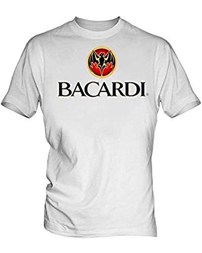 Bacardi Logo 2 Men's White T Shirt S