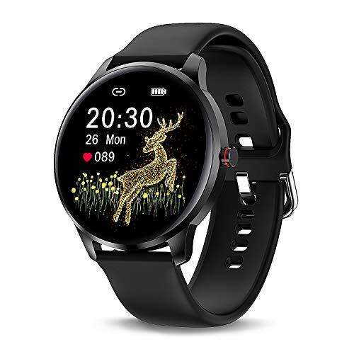 Fitness Tracker Smartwatch mit Blutsauerstoffmonitor, 24 Stunden Herzfrequenz für Damen Herren, IP68 Schwimmen wasserdichte Sportuhr, Kompatibel für Android Phones & iOS Phones