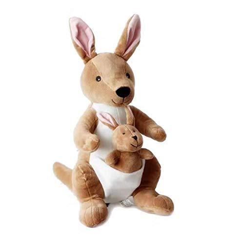 LAARNT Muñeca de Felpa Canguro Creativa de 28 cm para Madre e Hijo, Lindo Regalo de Peluche de Canguro marrón