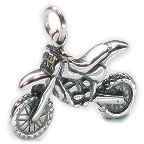 Dirt Bike Motocross Sterlingsilber Charm .925 x 1 Dirtbike Motorrad dkc44173