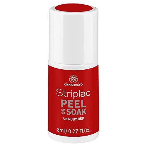 alessandro Striplac Peel or Soak Ruby Red – LED-Nagellack in Rot – Für perfekte Nägel in 15 Minuten – 1 x 8ml