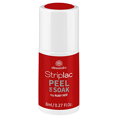 alessandro Striplac Peel or Soak Ruby Red – LED-Nagellack in Rot – Für perfekte Nägel in 15 Minuten – 1 x 8ml