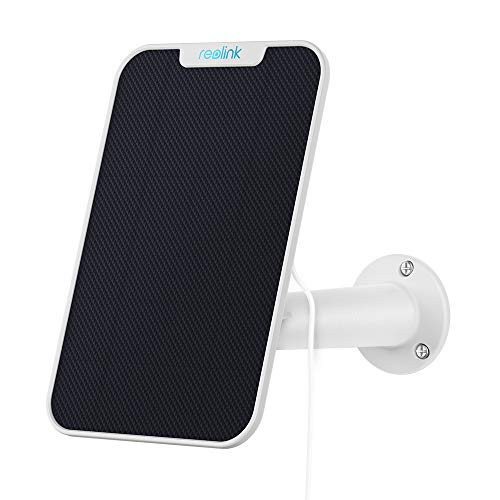 Reolink Solarpanel für Wireless Outdoor batteriebetriebene IP Kameras, wetterfest, einstellbare Halterung, unterbrechungsfreie Energieversorgung(4 Meter Kabel), weiß